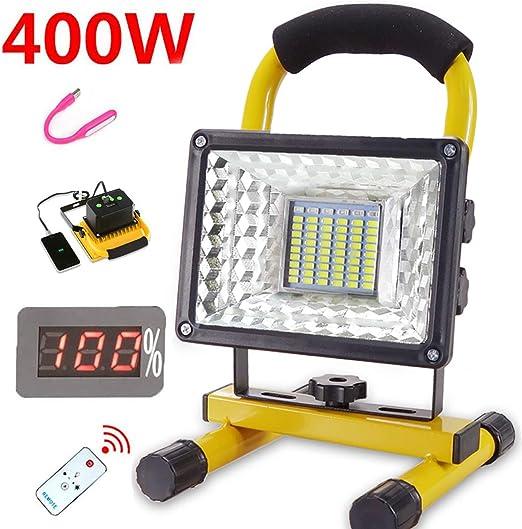 Led Foco Proyector Portatil, Luz de Trabajo Led Recargable,(400W ...