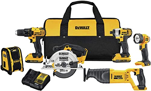 Dewalt DCK620D2R 20V Compact 6-Tool Combo Kit Renewed