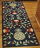 Park Designs Pineapple Hooked Rug Runner, 24 x 72''