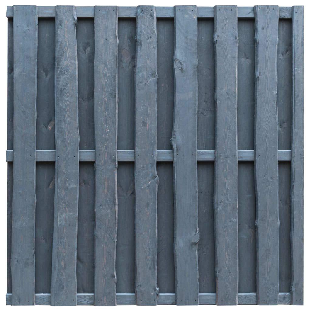 Tidyard Steccato in Legno Impregnato Grigio, Cancello in Legno in Certificato FSC, 180x180 cm