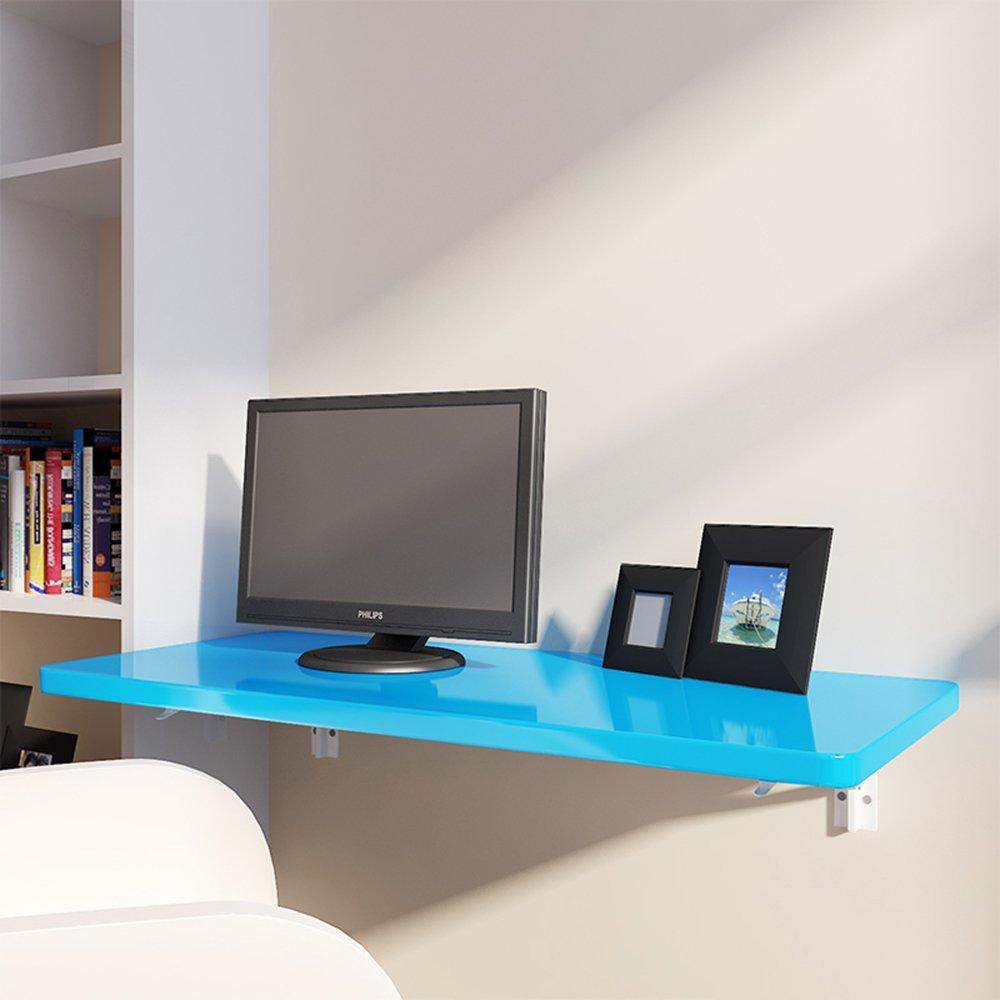 マチョン コンピュータデスク 折り畳みテーブルウォールテーブルラーニングテーブルサイズオプション (色 : Blue, サイズ さいず : 70cm*40cm) B07F67DFJBBlue 70cm*40cm