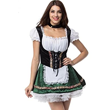Aiuem Beer Girl Oktoberfest Halloween Costumes For Women Cospaly Beer Maid Plus Size Fancy French Maid  sc 1 st  Amazon.com & Amazon.com: Aiuem Oktoberfest Halloween Costumes For Cospaly Beer ...