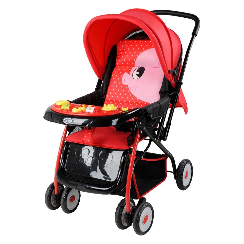 赤ちゃんのベビーカー軽量折りたたみ四季ユニバーサル傘子供のベビーカー(青)(赤)54 * 51 * 97cm ( Color : Red ) B07BTY41ZM