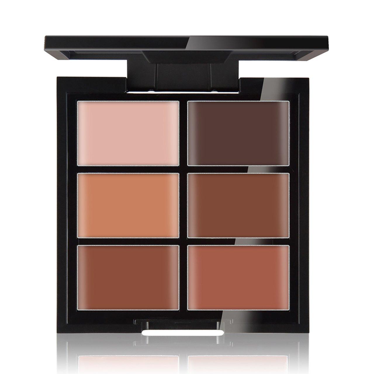 CCbeauty Cream Concealer Contour Palette Makeup Highlighter and Makeup Color Face& Eye Dark Circle Corrector Kit (Deep)