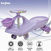 Baybee Lexcen Swing Cars for Kids-Strongest & Smoothest Twister-Magic Car Ride ons for Kids with PU Wheels-Kids Ride on Push car for Kids Babies Suitable Age 2 Years and Up Boy's and Girl's (Violet)