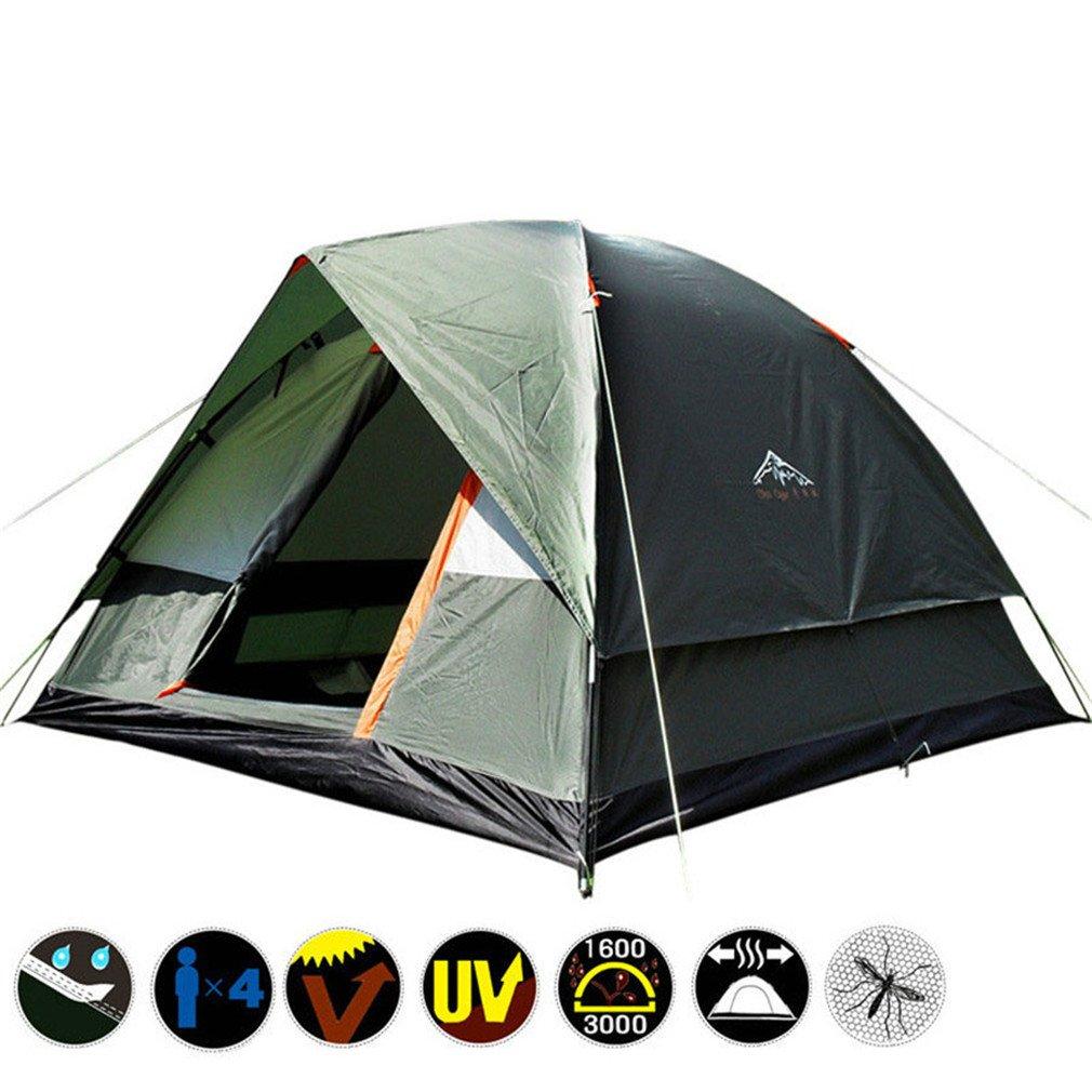 釣りの狩猟の冒険と家族パーティーのための3人の二層耐候性屋外キャンプテント   B075RT4K2B