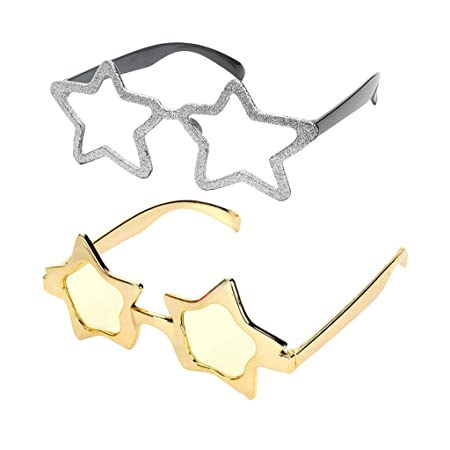 be41eec981 Homyl 2 pack Kids Girls  Shiny Five-point Star Shaped Sunglasses Novelty  Party