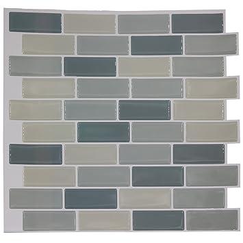 Fácil de azulejos anti moho pared adhesivo azulejos y pegar ...