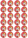 """X24 1.5"""" 16th Birthday Cup Cake Toppers Decorations For Boys & Girls on Edible Rice Paper"""