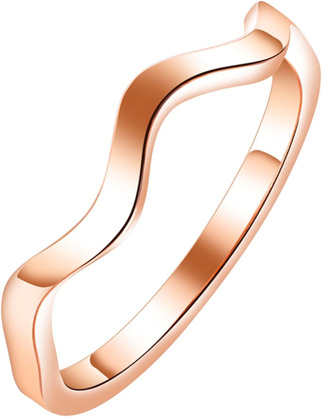 LOHOME Fashion Rings Blue//Silver//Gold//Rose Narrow Raised Grain Ladybro Ring for Womens Girls