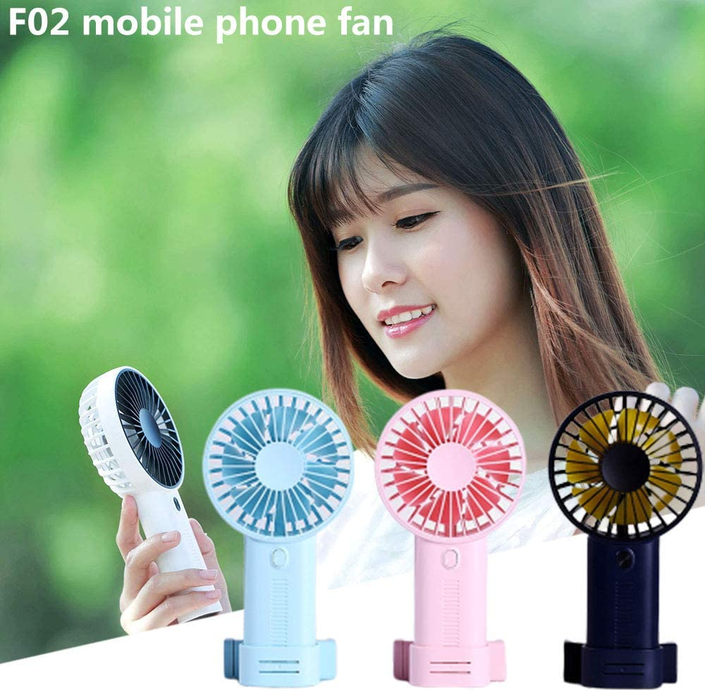 USB Fan Cooler F02 Phone Holder USB Desk Fan Electric Desktop Fan Cooling Fan Cooler Plastic Air Conditioning Fan Conditioner