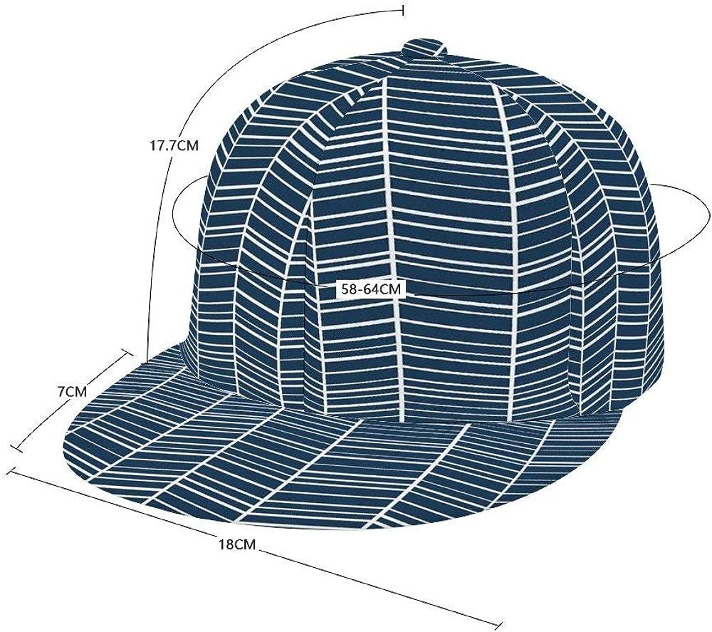 Dongi Navy Herringbones Unisex Full-Print Flat Rubber Ball Cap can Adjust Hip-hop Style