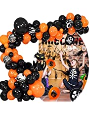 77 stuks Halloween Slinger Ballonnen, Halloween Ballonnen Decoratie Leuke Set met Pompoenkat en Gereedschap, voor Halloween-Decoratie Feestdecoraties