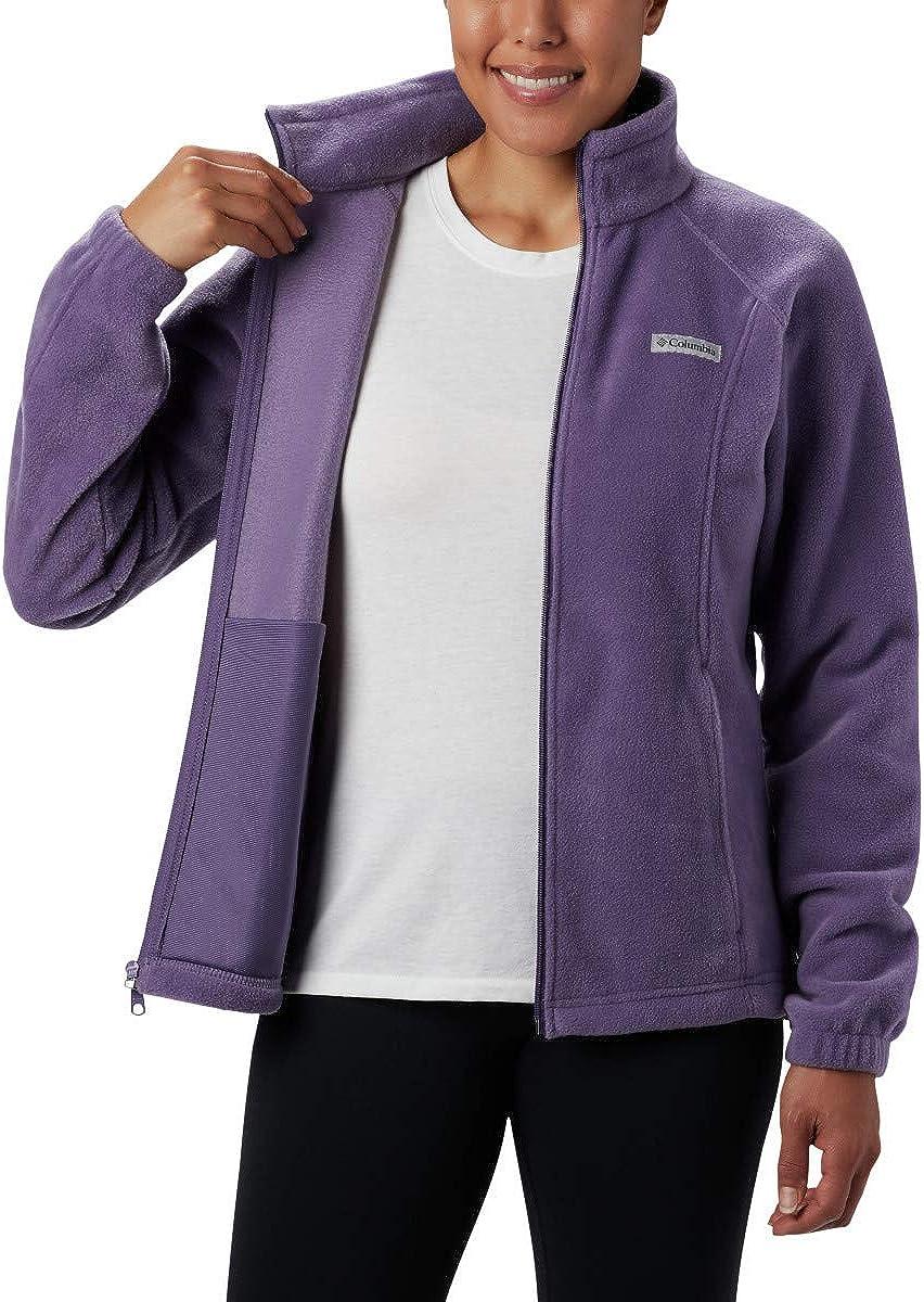 Plum Purple 3X Soft Fleece with Classic Fit Columbia Womens Plus Size Benton Springs Full Zip Jacket
