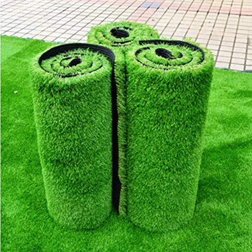 YEYE Artificial Grass Mat,10mm Turf Mat Thicken with Drainage Holes High Density Pet Turf for Patio Balcony Decoration Grass Rug-Green 200x1600cm(79x630inch) ()