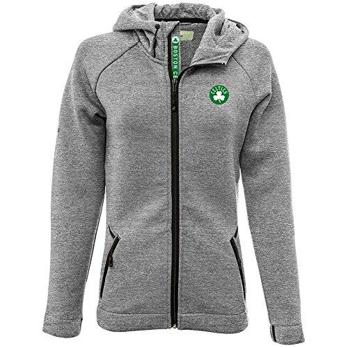 (Levelwear LEY9R NBA Boston Celtics Adult Women Motion Insignia Full Zip Hooded Jacket, Large, Heather Pebble)