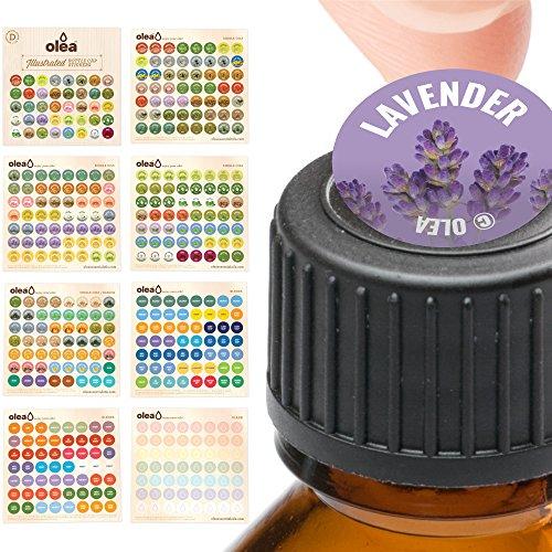 Illustrated Bottle Cap Labels for doTERRA Essential Oils • All 2018 doTERRA Single Oils Blends + Bonus Blank Stickers • 392 Essential Oil Sticker Labels For Aromatherapy Roller Storage (Peace Roller Ball)