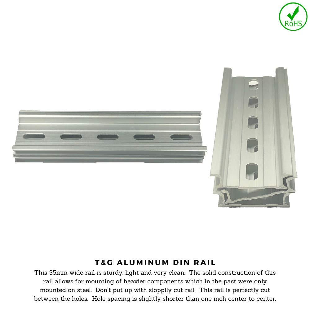 ICI 3 Pieces DIN Rail Slotted Aluminum RoHS 5 Inches Long 35mm Wide 7.5mm High