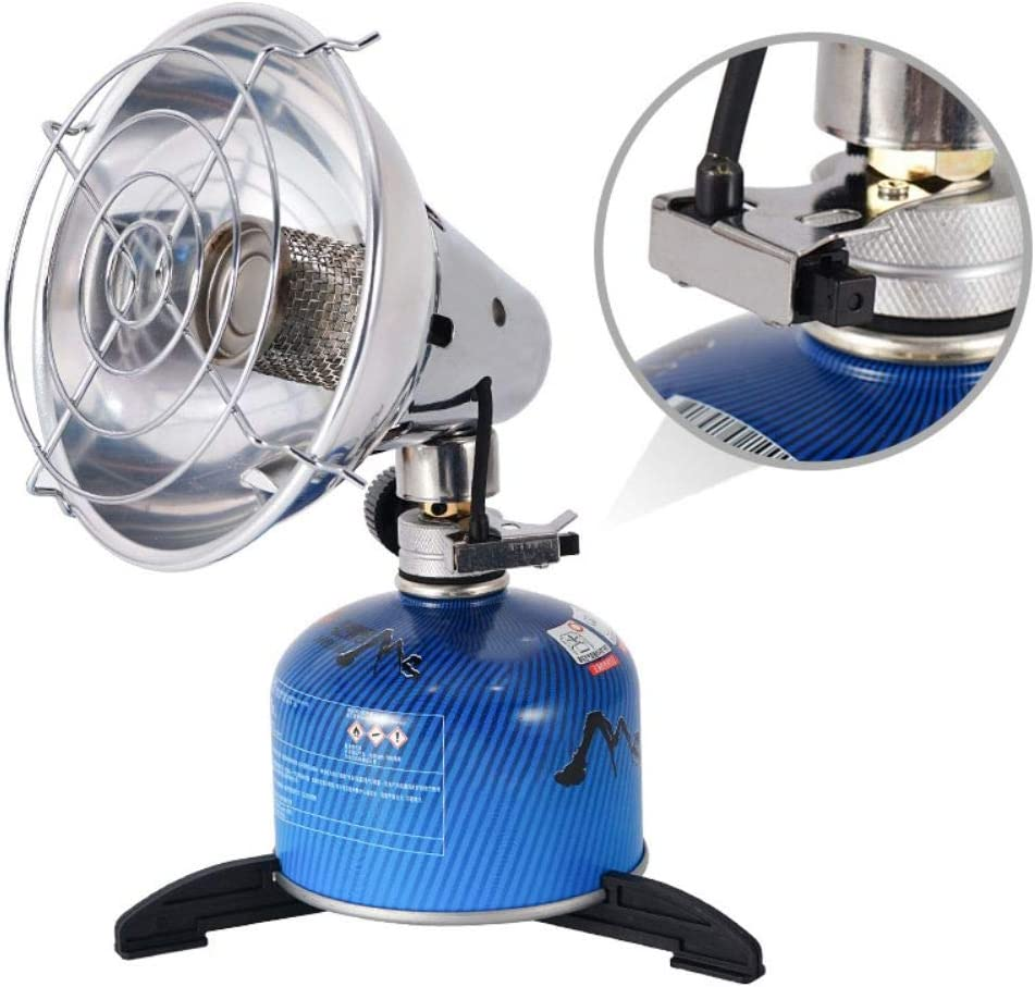 Amazon Com Mrinb Mini Gas Heater For Camping Outdoor Heating Camping Stove Propane Butane Tent Heater With Stand For Fishing Hunting Sports Outdoors
