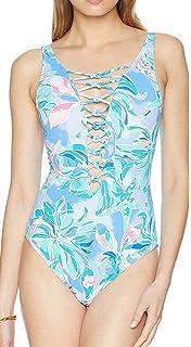 c5c329b899 Lilly Pulitzer Women's Azalea One-Piece Swimsuit at Amazon Women's ...
