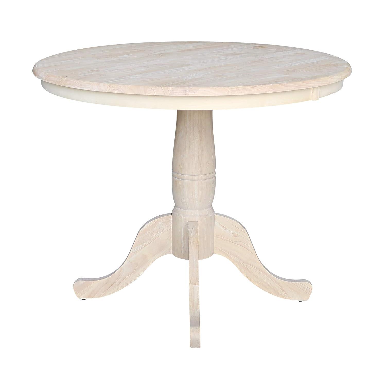 Amazon.com: Whitewood - Mesa de pedestal redonda, Madera ...