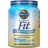 Garden of Life Raw Organic Fit Powder, Vanilla - High Protein for Weight Loss (28g) Plus Fiber, Probiotics & Svetol, Organic