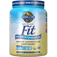 Garden of Life Raw Organic Fit Powder, Vanilla - High Protein for Weight Loss (28g) plus Fiber, Probiotics & Svetol…