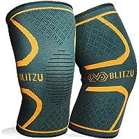 BLITZU Flex Plus Compression Knee Brace Men and Women for...