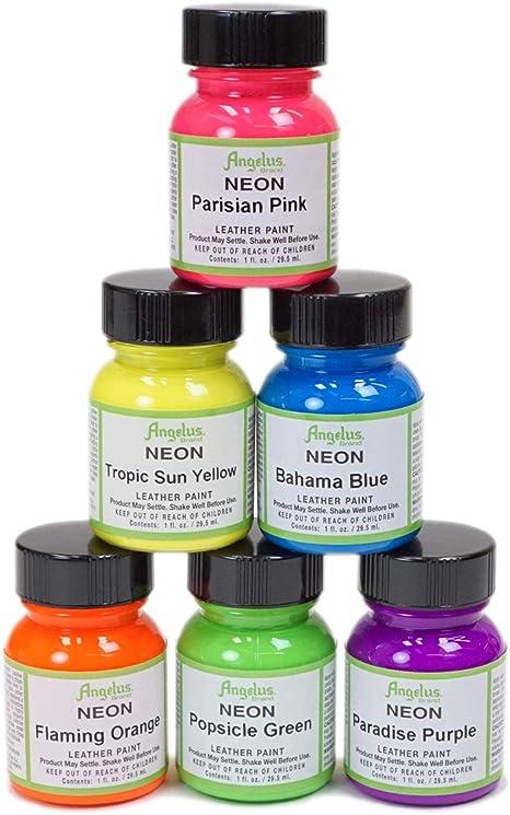 Angelus Neon Acrylic Paint Starter Kit