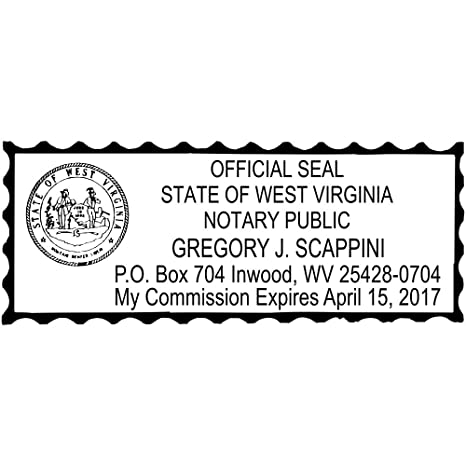 West Virginia Notary Rectangle Stamp