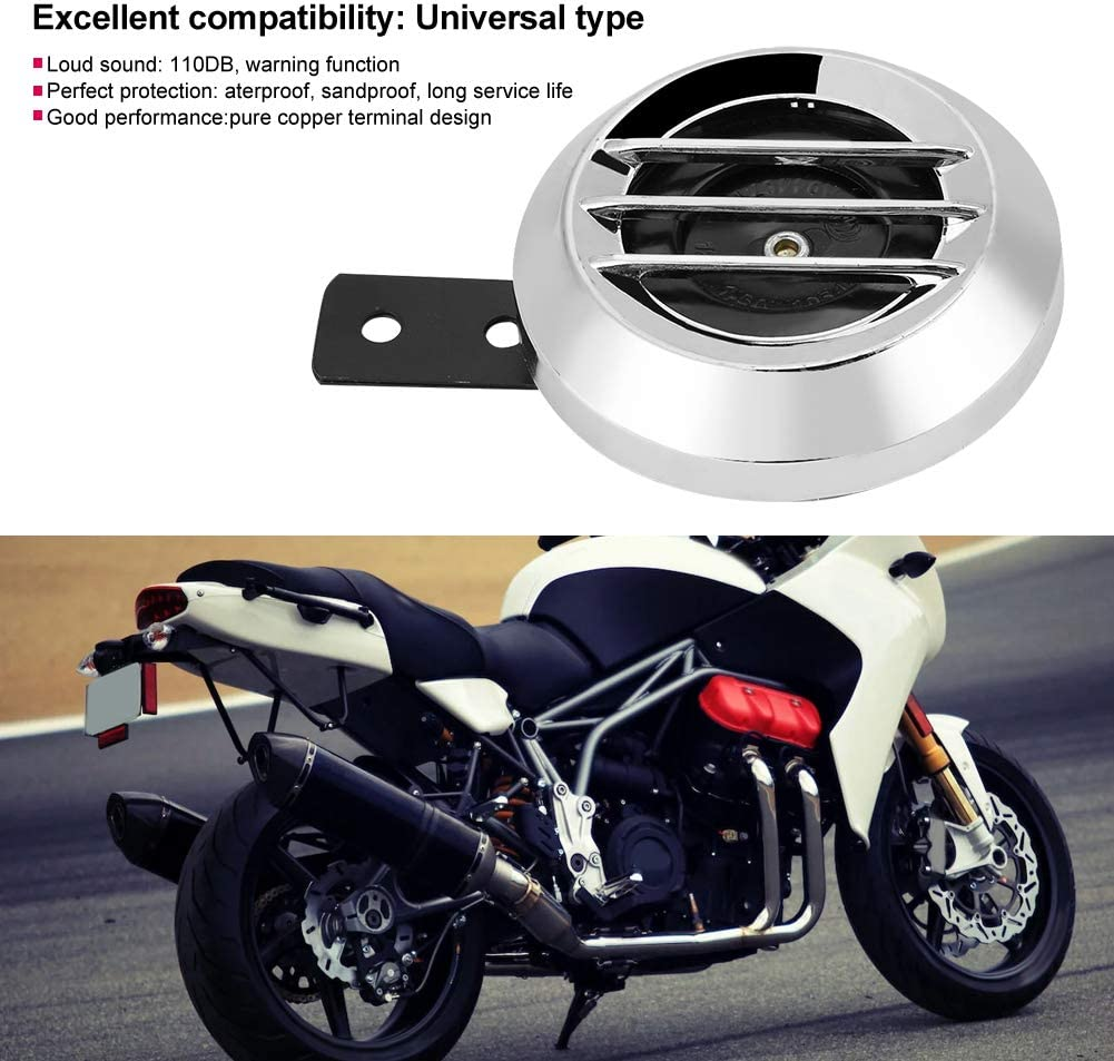 Universal 12V 110DB Horn Waterproof Round Horn Speaker for Motorcycle Aramox Electric Loud Horn