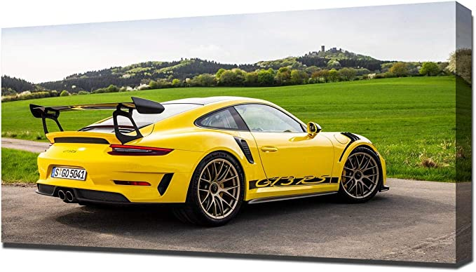 PORSCHE 911 GT3 RS RED /& GREY LARGE CANVAS WALL ART PICTURE STUNNING NEW PRINT