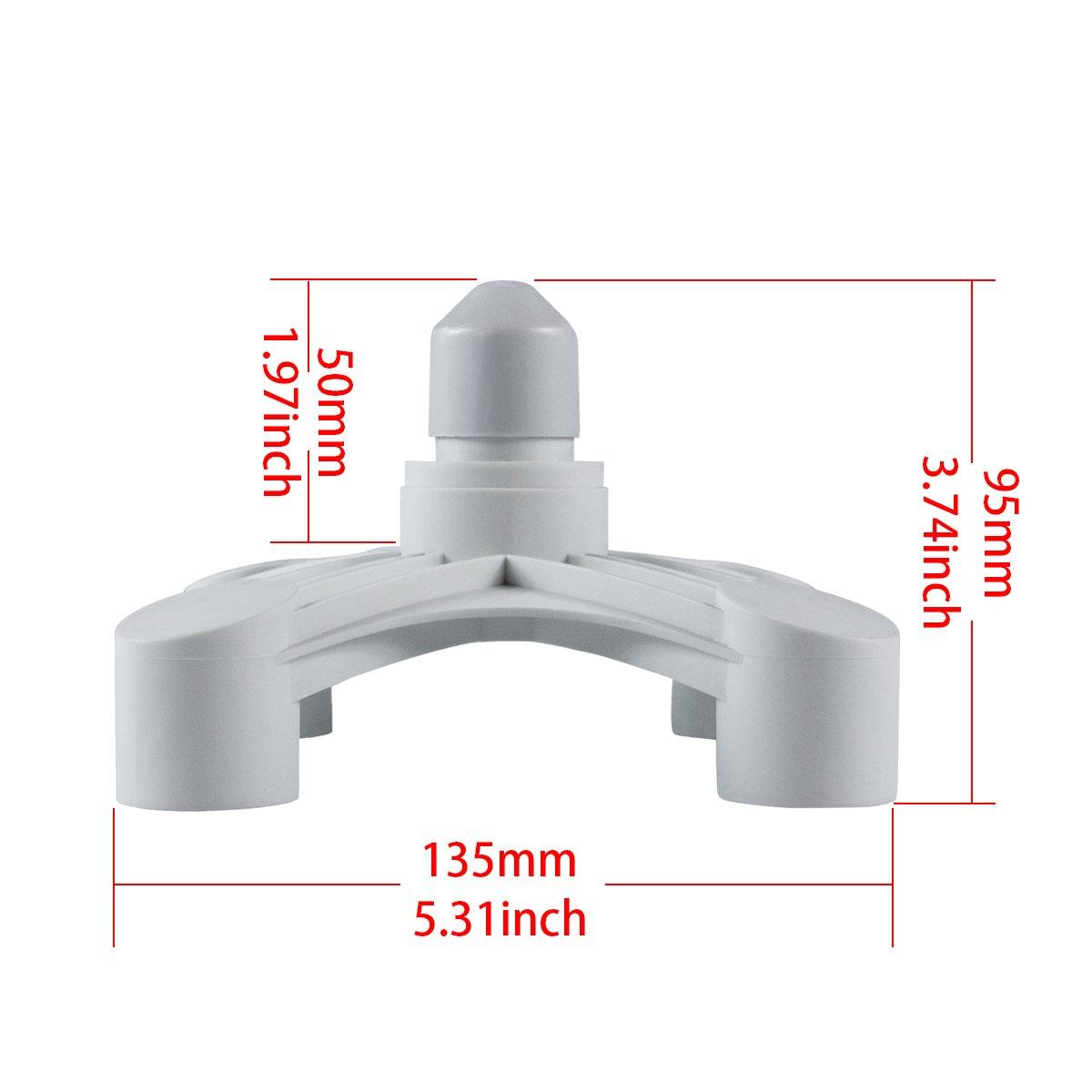 Hirate 4/en 1/E26/Base Socket Splitter LED Ampoule Lampe adaptateur support Douille adaptateur 4/Way Splitter Blanc