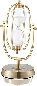 Hourglass Timer, Sand Clock 30 Minutes, Brass Hour Glass for Decor Metal Sandglass Timer