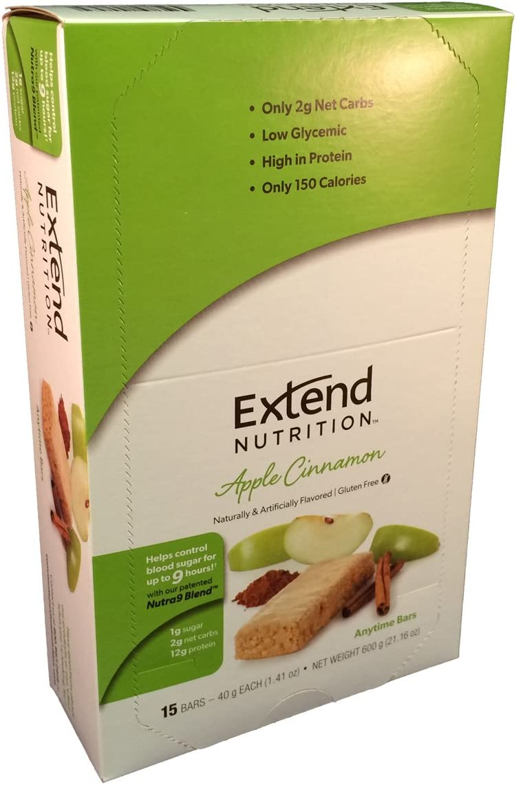 Extend Bar, Apple Cinnamon, 1.41 oz. Bars Pack of 15