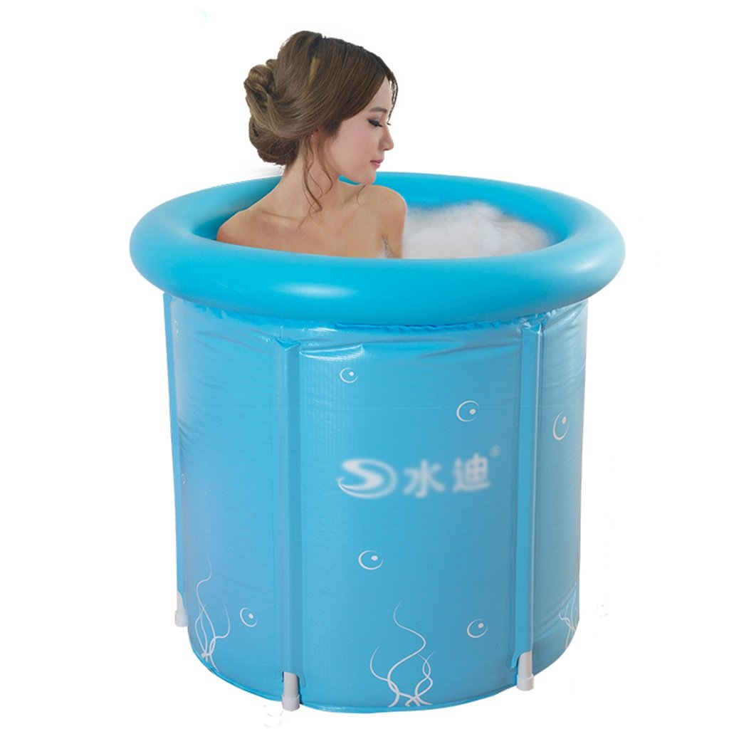 Inflatable Folding Bath tub, Portable Tub Bath Thicker Insulation Adult Home SPA, Air Shower Basin Seat Baths (Size : L) by None (Image #1)