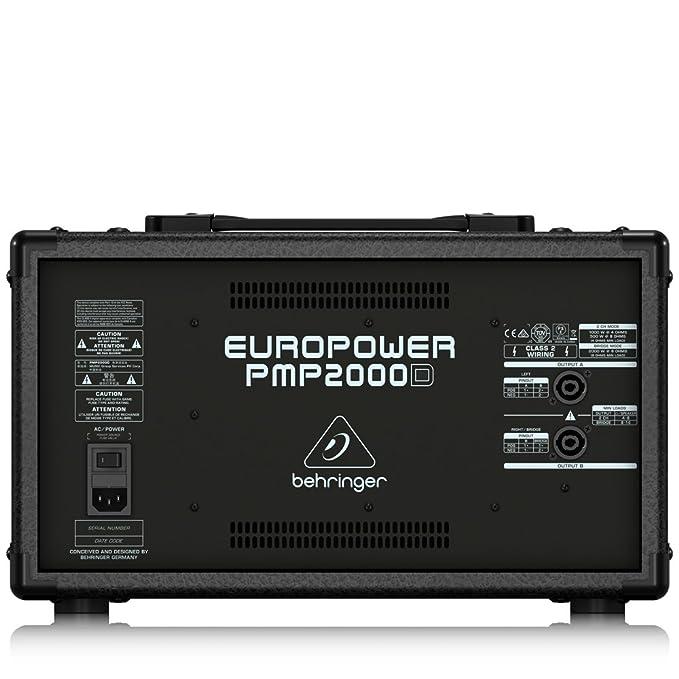 EUROPOWER PMP2000D - Mesa de mezclas autoamplificada compacta ...