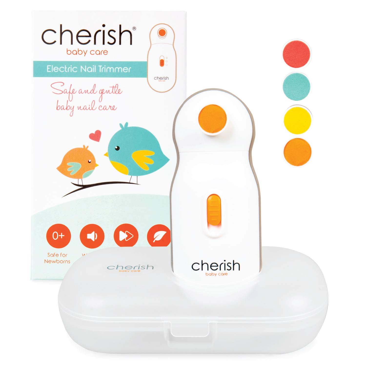 Electric Baby Nail File: Baby Nail Trimmer for Infant and Toddler: Safer Than Baby Nail Clippers by Cherish Baby Care