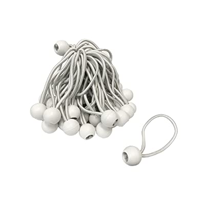 "6"" White Bungee Balls (50 Pack)"