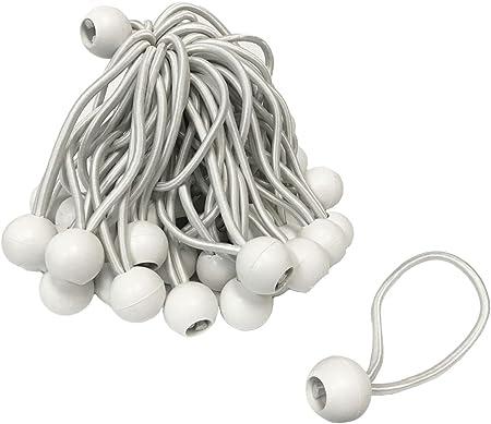 "Gray 30 pk Bungee Tie Small 6/"""