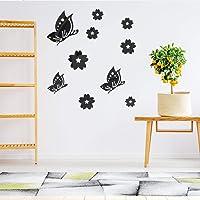 yuyuanDO Miroir Autocollant Mural Sticker Serie Papillon Mural Acrylique Autocollant Deco sans Clou Prêt à l'Emploi Deco Chambre Enfant Bebe