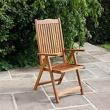 Billyoh Windsor Reclining Wooden Garden Chair Folding Armchair
