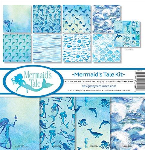 Fish Scrapbooking (Reminisce Mermaid's Tale Scrapbook Collection Kit)
