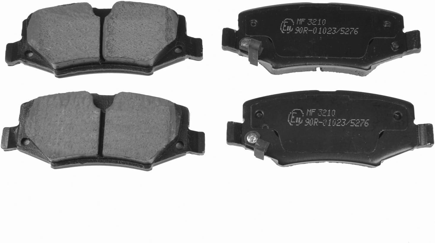 hinten, 4 Bremsbel/äge Blue Print ADA104214 Bremsbelagsatz