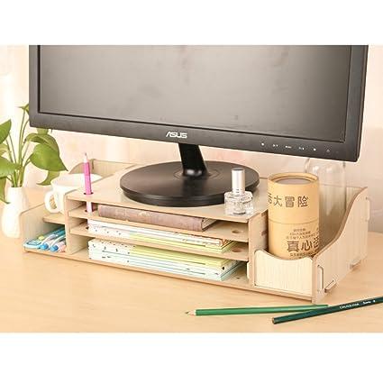 dreamaccess TV portátil Monitor de PC Soporte de madera, extra ...