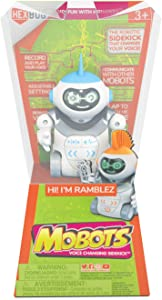 HEXBUG MoBots Ramblez - Recording and Talking Robot Kit with Lights, Sound and Flexible Body - Smart Interactive Educational Toys for Kids - Ages 3+ - Batteries Included (Colors and Styles May Vary)