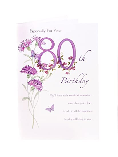 Amazon happy 80th birthday birthday greetings card home kitchen happy 80th birthday birthday greetings card m4hsunfo