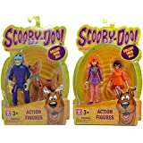 Scooby-Doo Daphne and Velma and Dracula Action Figures & Phantom Racer Monster Action figure set