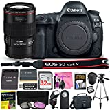 Canon EOS 5D Mark IV 30.4 MP Digital SLR Camera (Wi-Fi, GPS Enabled) PROFESSIONAL PHOTOGRAPHER Lens Kit with EF 100mm f/2.8L Macro IS USM Lens & Premium Camera Works Accessory Bundle