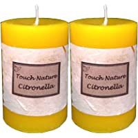 Touch Nature Citronella Essential Oil Scented Aromatherapy Fragrant Yellow Handmade Candle. Hand Poured Rustic Home…
